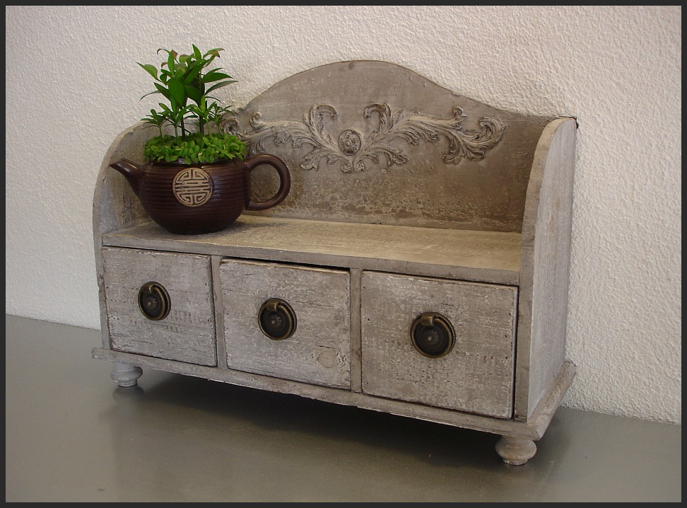 shabby chic kommode regal h ngeschrank gew rzregal vintage landhausstil holz 1 ebay. Black Bedroom Furniture Sets. Home Design Ideas