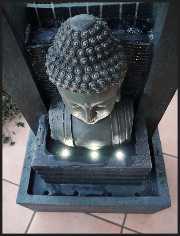 Buddha brunnen zimmerbrunnen wasserwand 74 cm ho led - Brunnen modern ...