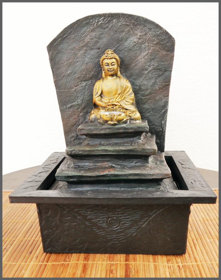 3 x BUDDHA Skulptur sitzend 20//22 cm ho Deko Figur *NEU* Asiatika